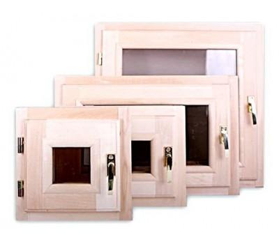 В продаже окна и форточки для бани из липы со стеклопакетом.