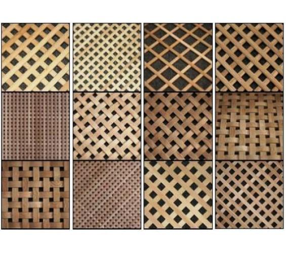 Декоративные решетки из дуба и бука