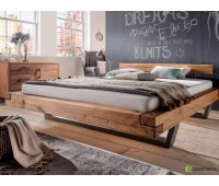 """Кровать из бруса и металла в стиле Лофт """"VIII"""""""