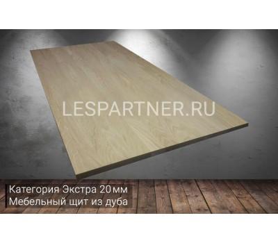 Мебельный щит из дуба категория Э 20x600x3000мм