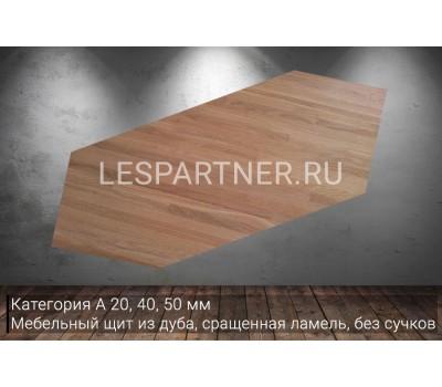 Мебельный щит из дуба, категории «А» 40x300x6000мм