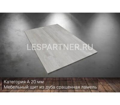 Мебельный щит из дуба категория А 20x500x3000мм