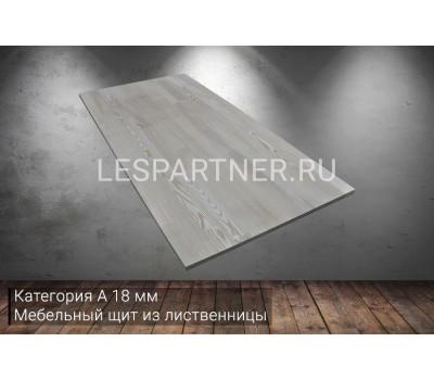 Мебельный щит из лиственницы категория А 18x600x1500мм
