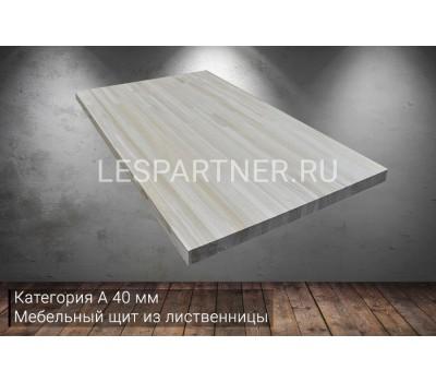 Мебельный щит из лиственницы категория А 40x1000x1200мм
