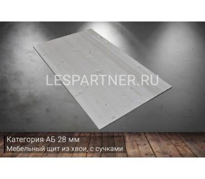 Мебельный щит из сосны с сучкамикатегория АБ28x300x2500мм
