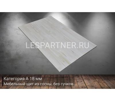 Мебельный щит из сосны без сучковкатегория А18x400x3000мм