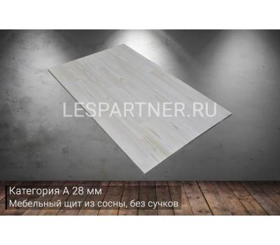 Мебельный щит из сосны без сучковкатегория А28x400x1000мм