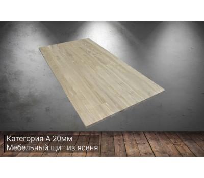 Мебельный щит из ясеня категория А 20x200x3000мм