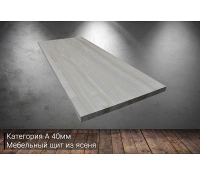 Мебельный щит из ясеня категория А 40x620x1500мм