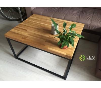 Купить журнальный стол в стиле лофт из массива по нужным размерам