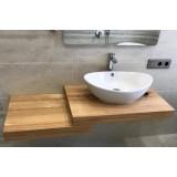 У нас вы можете приобрести на заказ столешницу под раковину в ванной из массива дерева