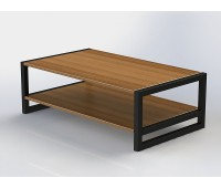 Журнальный столик в стиле лофт из массива дерева